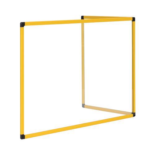 Bi-Office Duo Glass Board 600mm 900x600 Yw Alu Frm