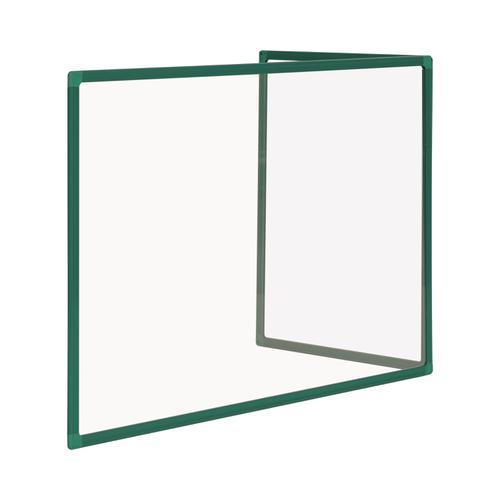 Bi-Office Duo Glass Board 600mm  900x600 Green Alu Frm