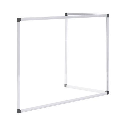 Bi-Office Duo Glass Board 900mm 1200x900 Alu Frm