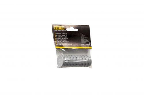 Bi-Office Round Magnets 30mm Black PK10