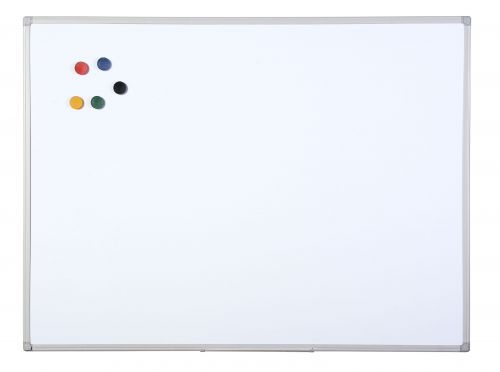 Bi-Office Maya Alu Finish Melamne Drywipe Board 120x90cm