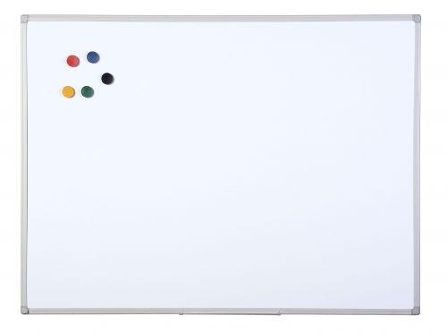 Bi-Office Maya Grey Plas Frame Drywipe Brd 240x120cm