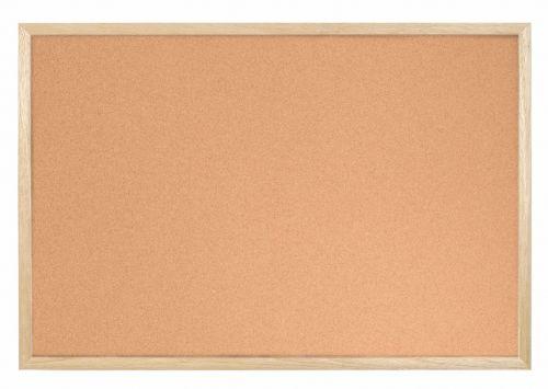 Bi-Office Cork Notice Board Wood Frame 900mm X 600mm