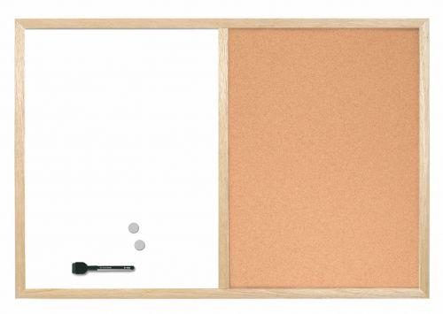 Bi-Office Combo Board Pine Frame 600mm X 400mm