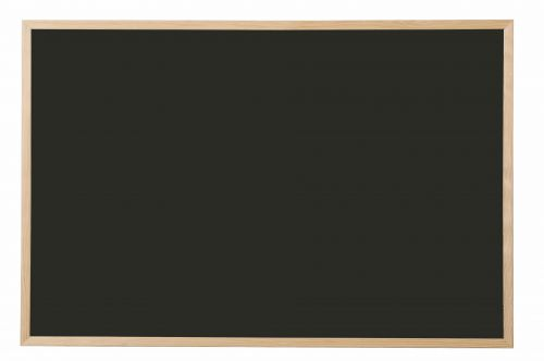 Bi-Office Black Board Pine Frame 900mm X 600mm
