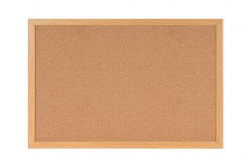 Bi-Office Earth-It Cork Notice Board 180x120cm oak Frame