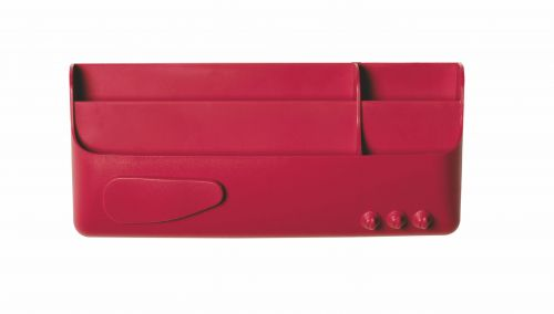 Bi-Office Magnetic Smart Accessory Box Red
