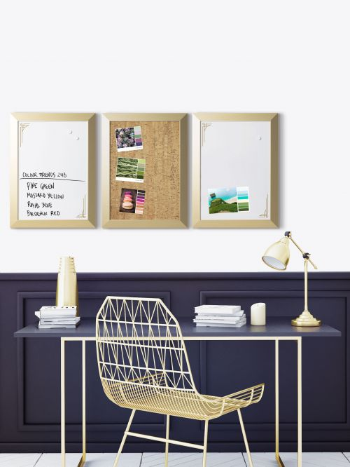 Bi Office Positive Flow Metallic Gold Message Boards
