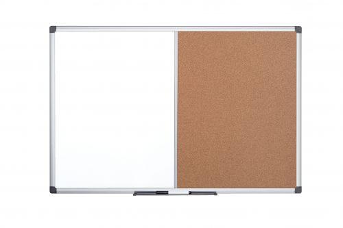 Bi-Office Maya Alu Frame Combo Brd Cork/Magnetic 120x90cm