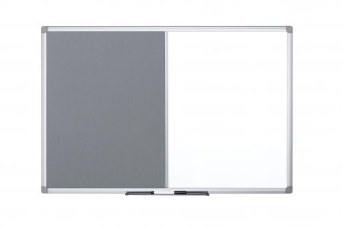 Bi-Office Maya Combo Aluminium Frame Board Grey 120x90cm