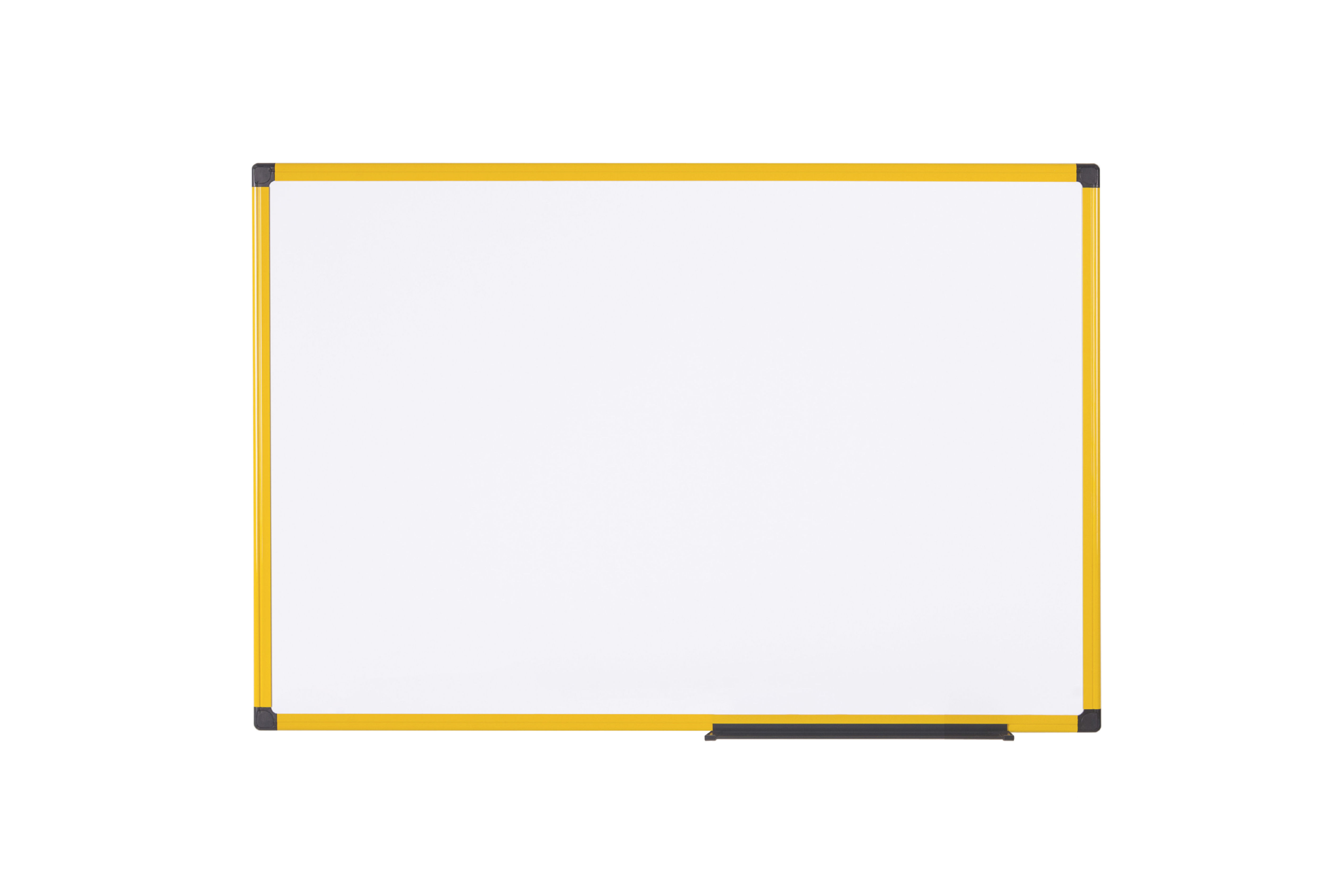 Magnetic Bi-Office Ultrabrite Magnetic Lacquered Steel Whiteboard Yellow Aluminium Frame 900x600mm MA0315177