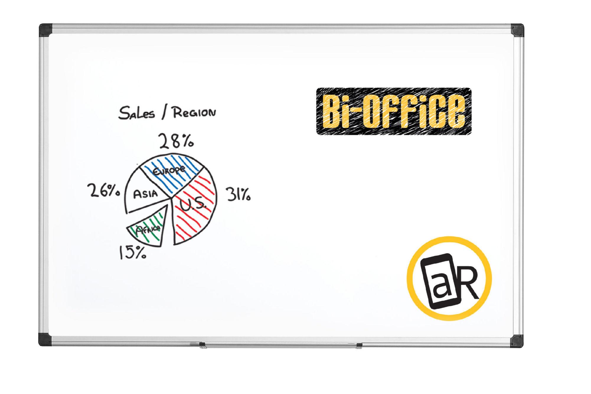 Bi-Office Whiteboard Aluminium Frame 1500x1000mm MA1512170