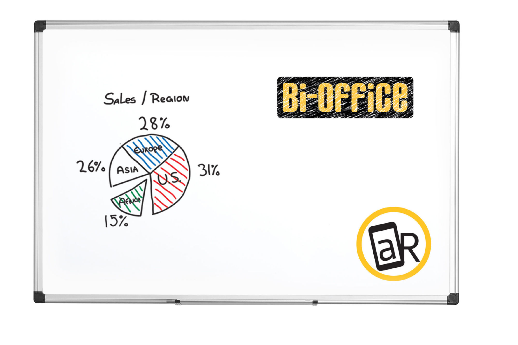Bi-Office 1800x1200 Alu Frame Whiteboard