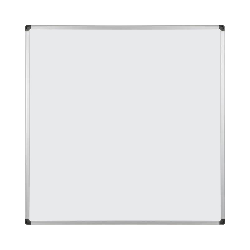 Magnetic Bi-Office Maya Double Sided Magnetic Whiteboard Laquered Steel Aluminium Frame 900x900mm