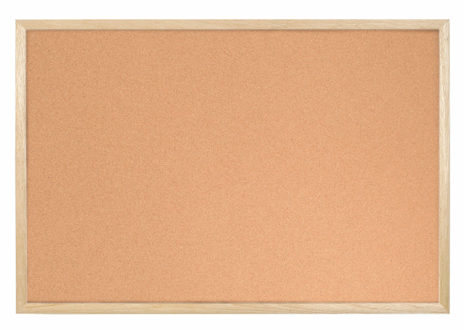 Bi-Office Cork Notice Board Wood Frame 900mm X 600mm