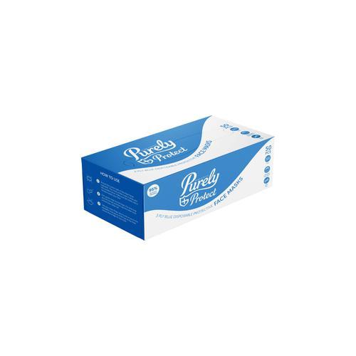 ValueX 3ply Blue Disposable Surgical Masks BX50