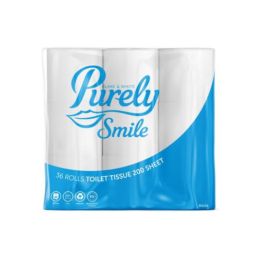 ValueX Toilet Roll 2Ply Recycled 200 Sheets White (Pack 36) PS1120