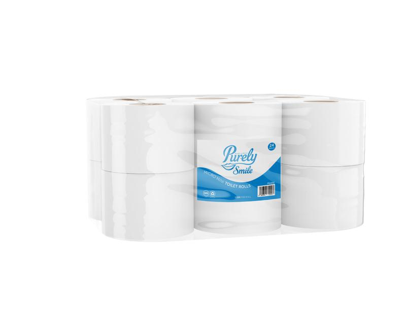 Toilet Tissue & Dispensers ValueX Micro Mini Toilet Roll 2 Ply Recycled 120 Metres (Pack 24) PS1150