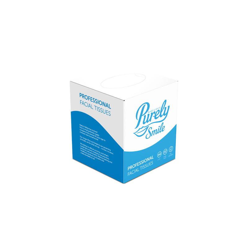 Facial Tissues Purely Smile Facial Tissues Cube 2 Ply White (Pack 24) PS1402