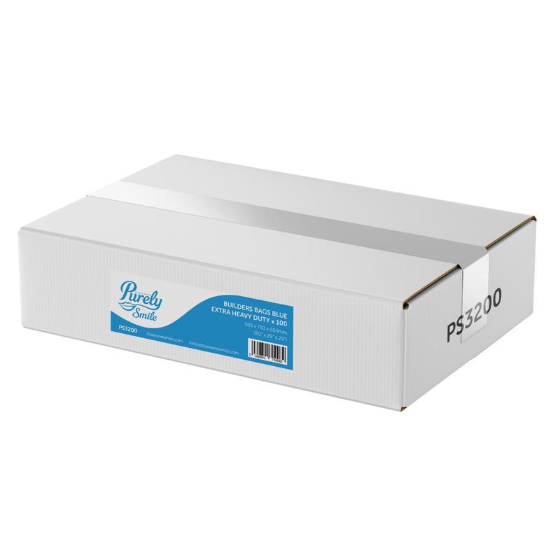 Bin Bags & Liners ValueX Heavy Duty Rubble Builders Bags Blue Pack 100 PS3200