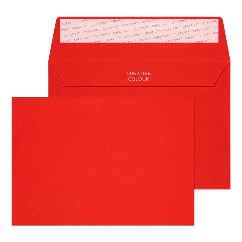 Pillar Box Red C6 120gsm Peel and Seal Envelope (PK500)