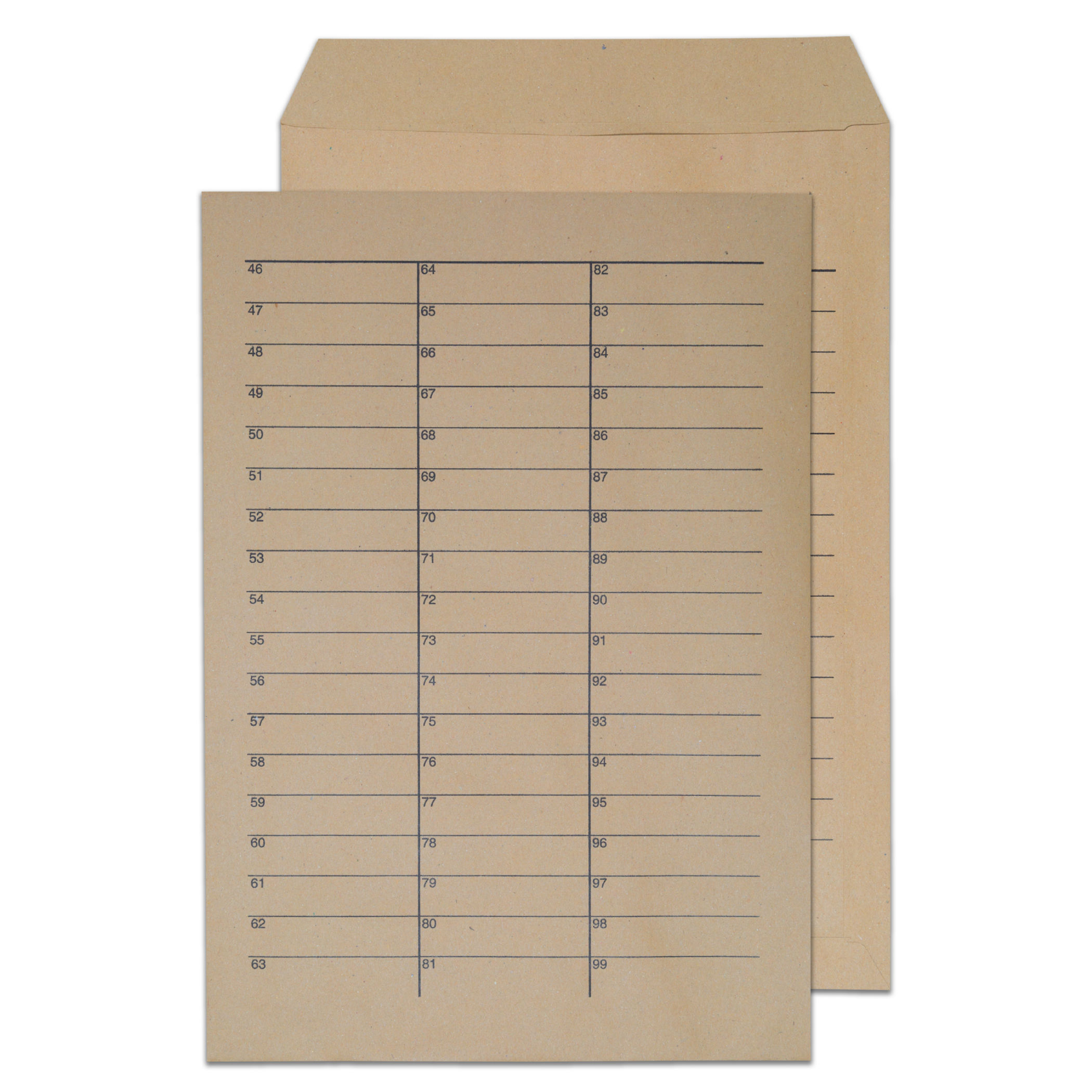 C4 ValueX Pocket Internal Mail Envelope C4 90gsm Manilla (Pack 250)