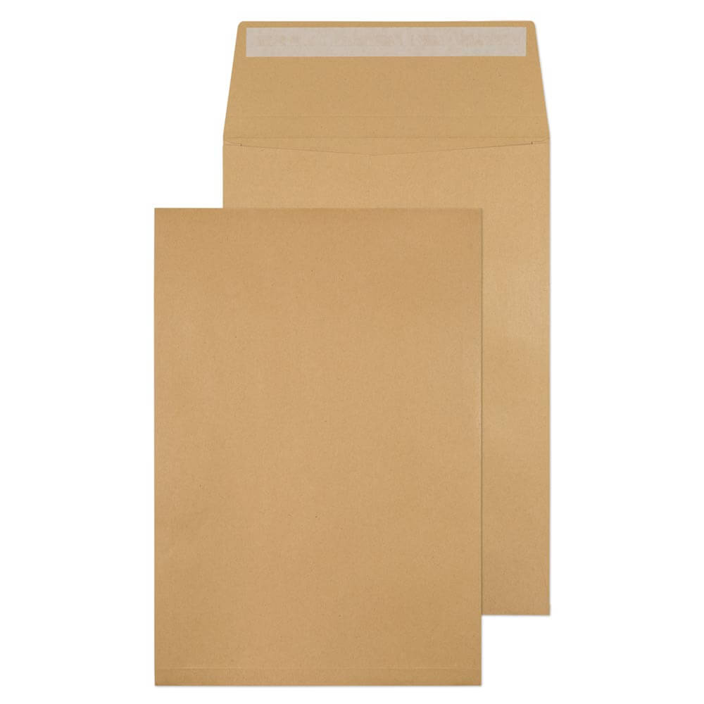 Gusset Envelopes ValueX Gusset Pocket Peel and Seal Plain Envelope C4 324x229x25mm Manilla (Pack 125)