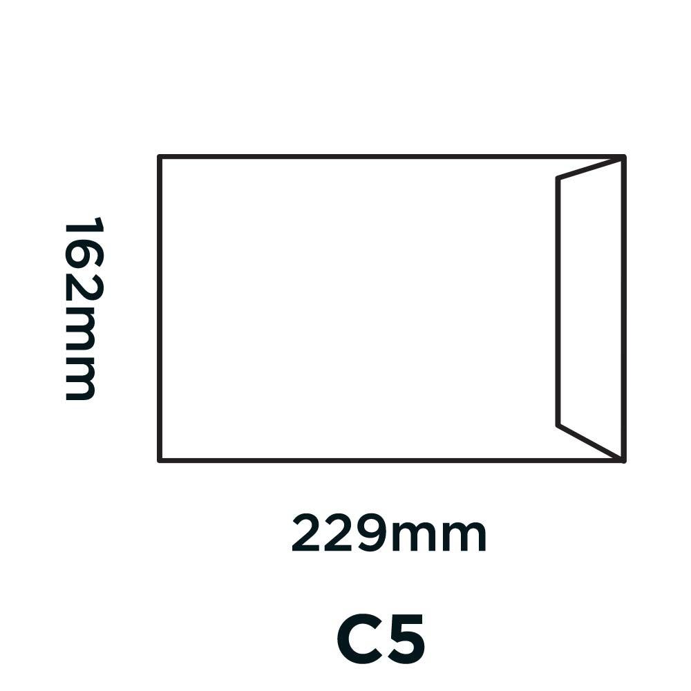 Pocket Manilla Gummed C5 80gsm PK50