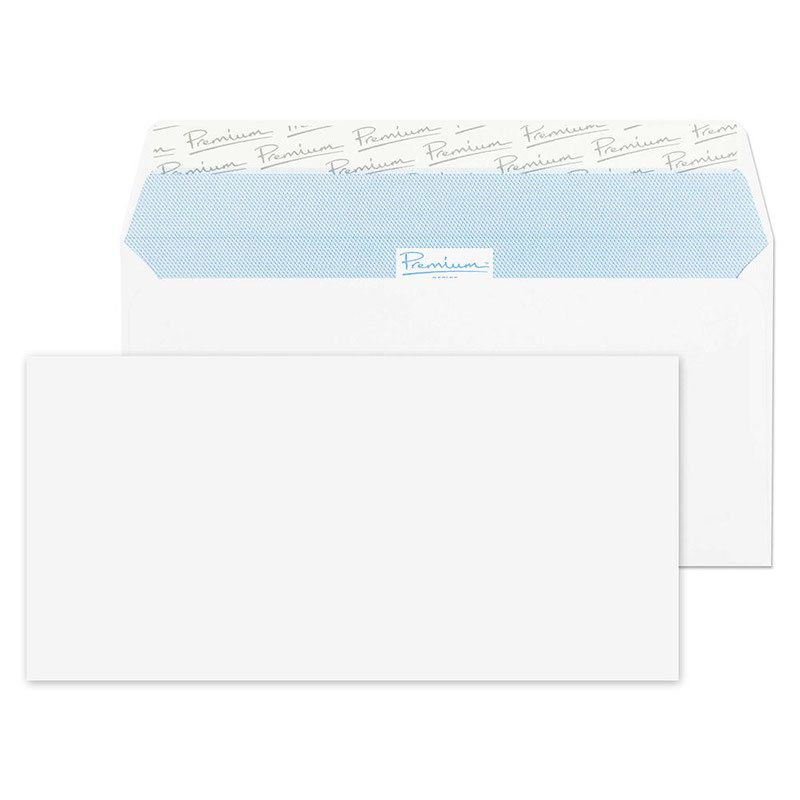 Blake Premium Office DL Wallet Peel&Seal 120gsm Wove Ultra White Ref 32215 [Pack 500] 3to5 Day Leadtime