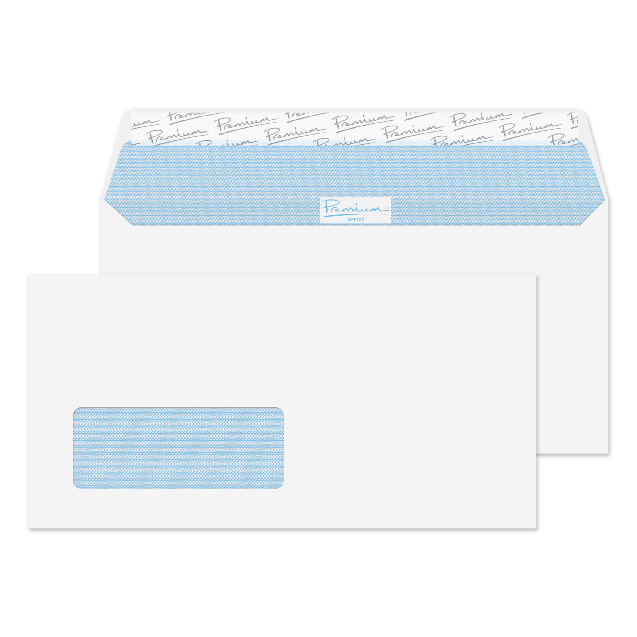 Premium Business Wallet P&S Window DL 110x220 Wht (PK500)