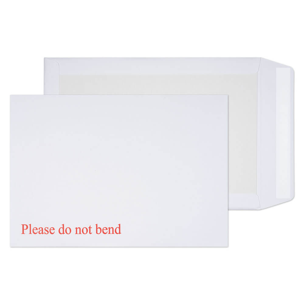 Board Backed Envelopes Blake Purely Packaging Board Backed Pocket Envelope C4 Peel and Seal 120gsm White (Pack 125)