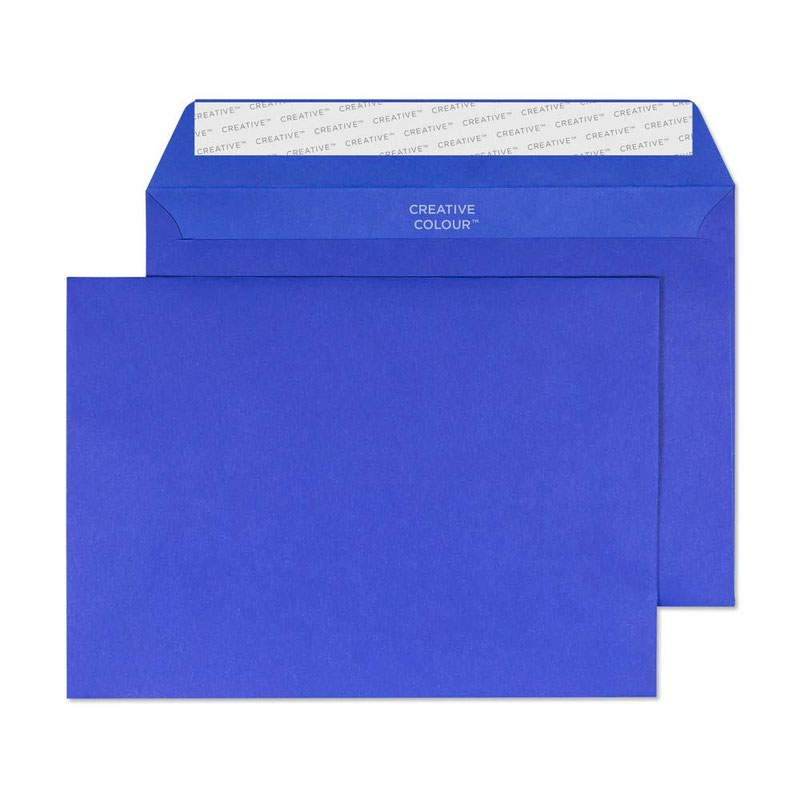 Blake Creative Colour Victory Blue Peel & Seal Wallet 162x229mm 120gsm Pack 500 Code 343
