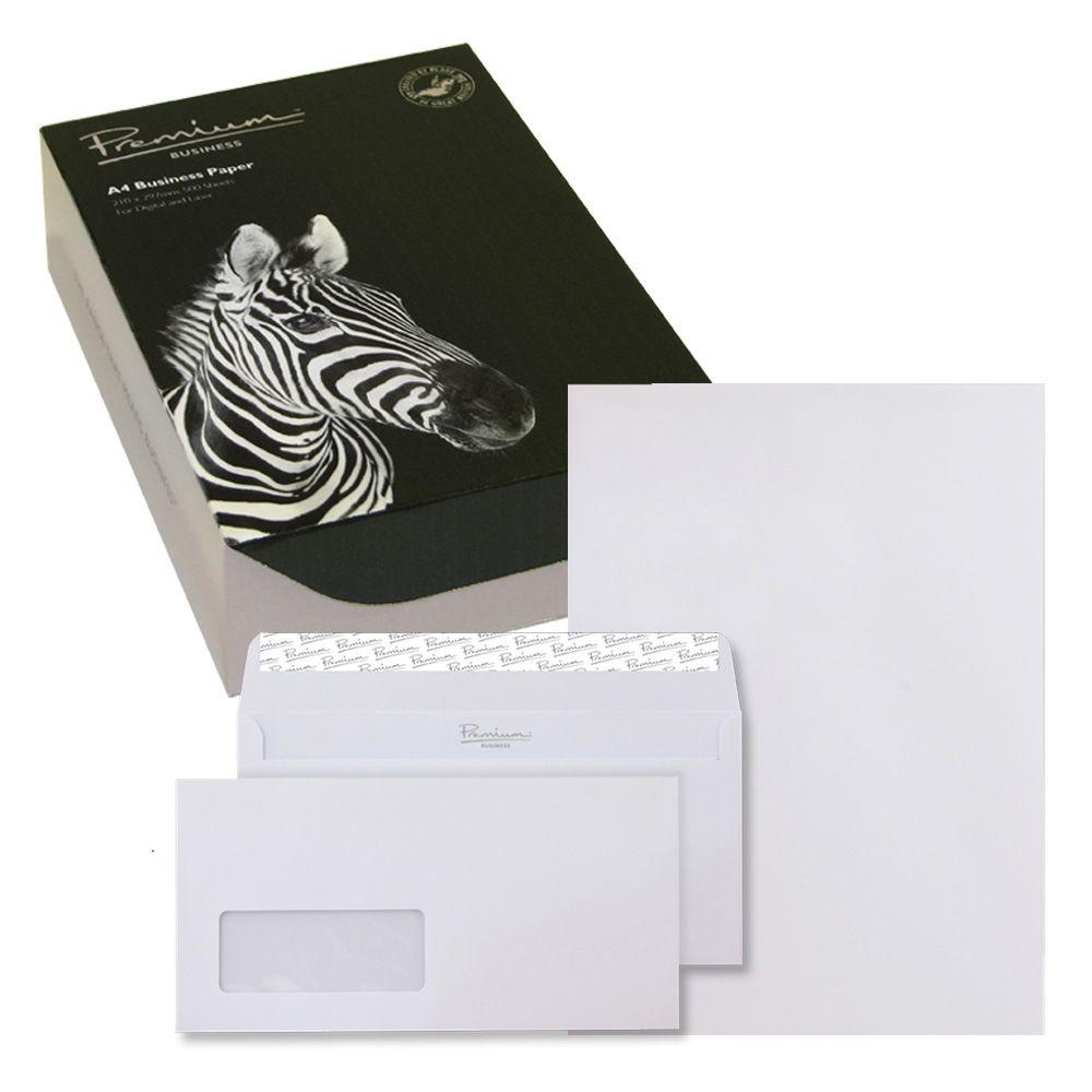 Blake Soho High White Wove A4 Paper & Wallet P&S DL envelopes 120gsm Pk250/50 35670 3to5 Day Leadtime