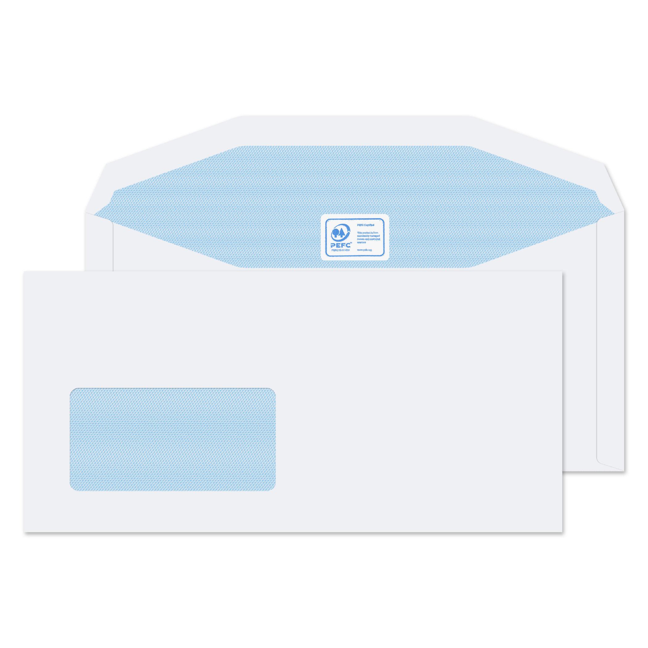 Gummed Low Window White DL++ PK1000
