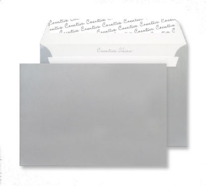 Shades of White Creative Shine Wallet P&S Metallic Silver C5 130gsm PK25