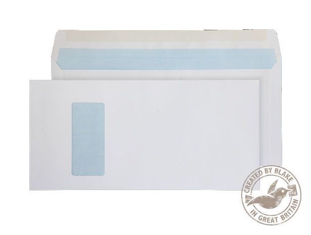 Purely Everyday Mailer Gummed Window White 152x315mm 100gsm Ref 520W [Pack 250] 10 Day Leadtime