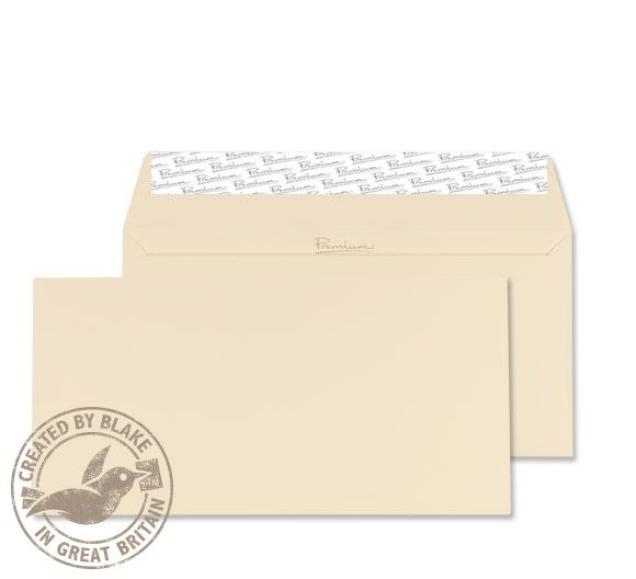 Blake Premium Envelope Wallet Peel & Seal 120gsm Wove Finish Cream DL [Pack 500] Ref 61882