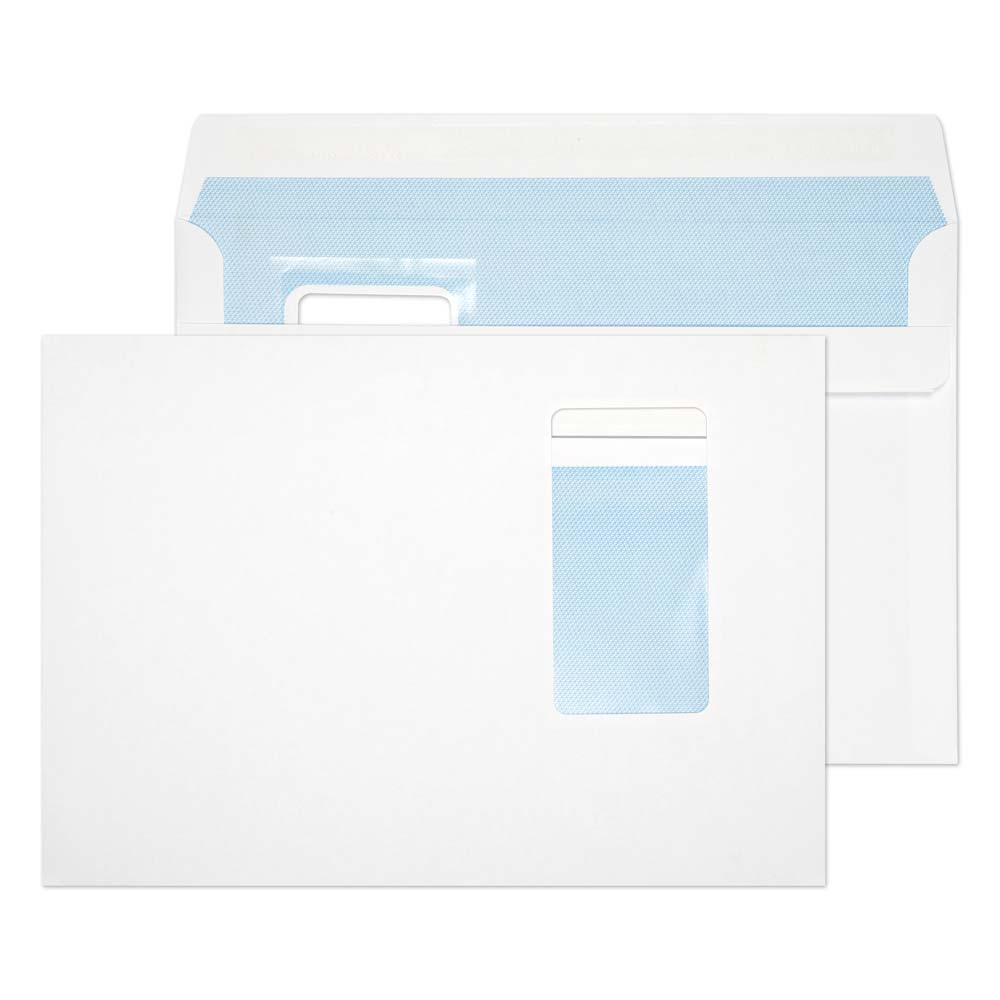 C5 Everyday White Window SS Wallet C5 162x229 100gsm (PK500)