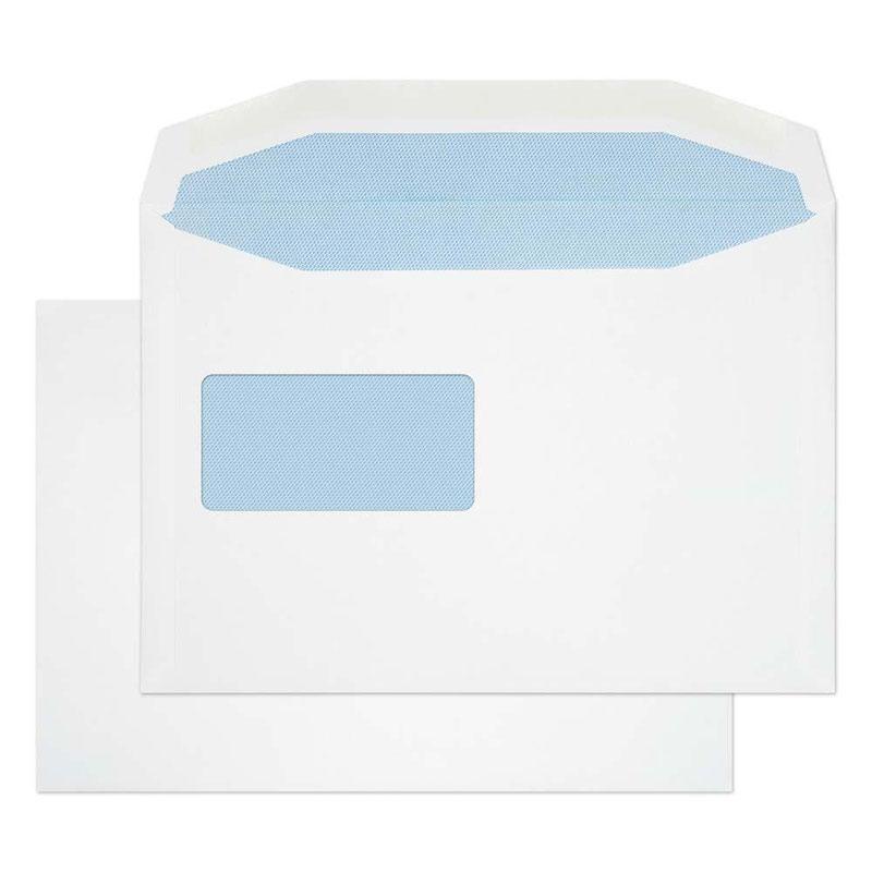 )Pu Mail Gum Rvr Wdw Wht 100gsm C5 Pk500