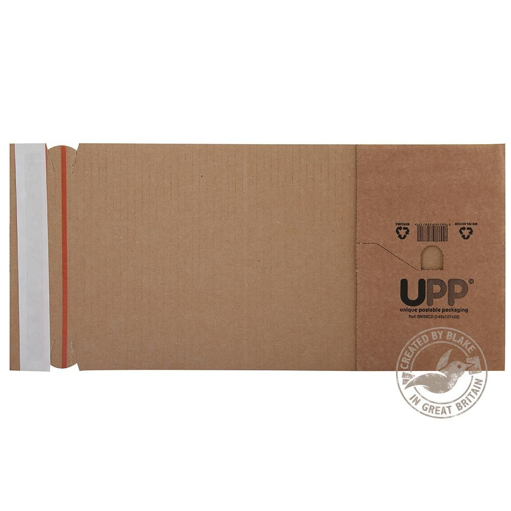Blake Purely Packaging Manilla Peel and Seal Book Wrap 320x290x80mm Pack 25 Code BWMLA