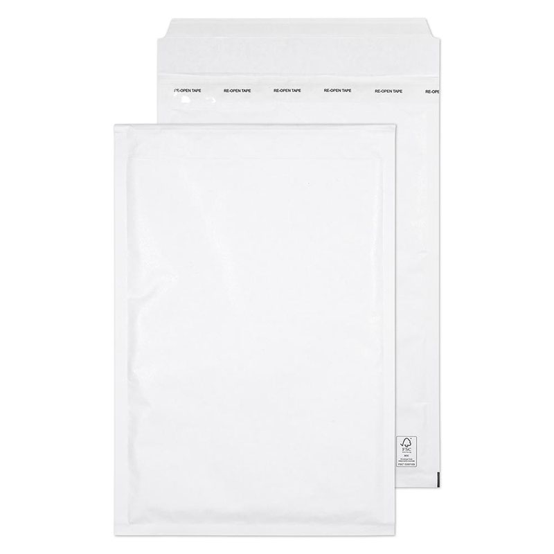 Blake Purely Packaging White Peel & Seal Padded Bubble Pocket 340x220mm 90gsm Pack 100 Code F/3