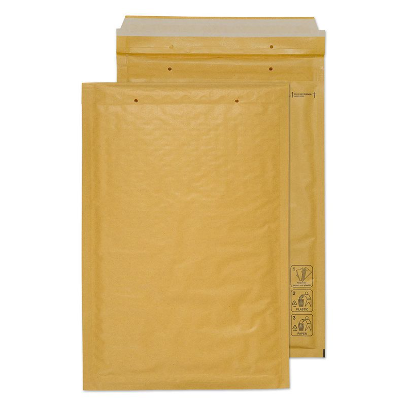 Blake Purely Packaging Gold Peel & Seal Padded Bubble Pocket 335x230mm 90g Pk100 Code F/3 GOLD