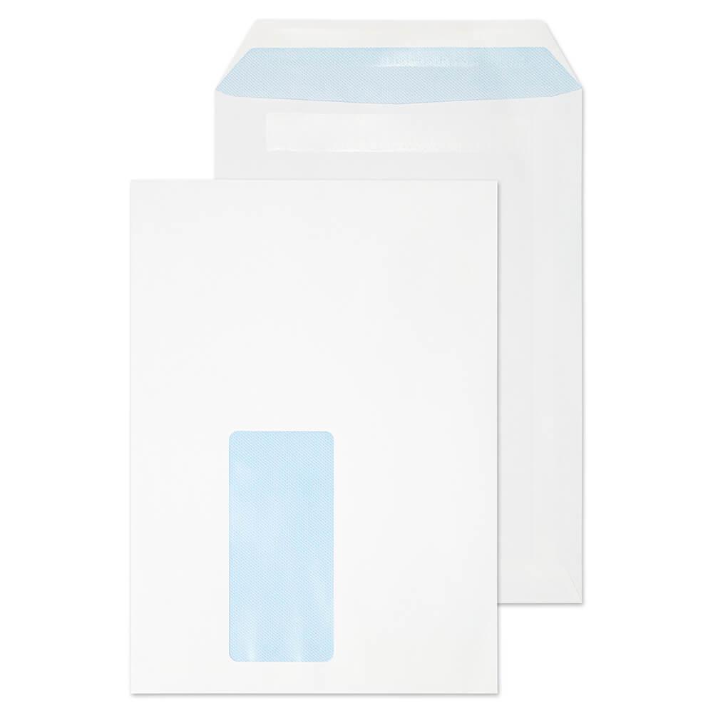 C5 Envelopes 229x162mm Pckt S/S White Wdw 72up 90gsm Box 500