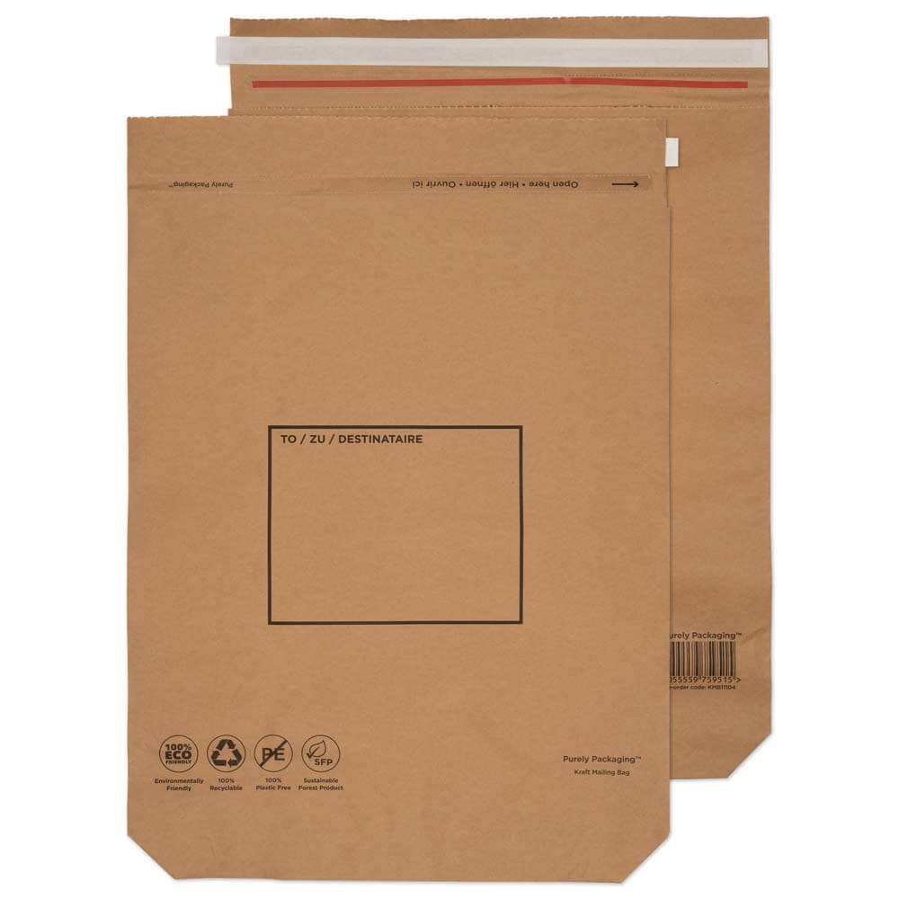 Purely Packaging Brown P&S Kraft Bag 600x480mm PK50