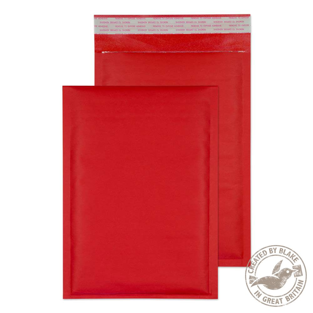 Blake Purely Packaging Red Peel & Seal Padded Bubble 260x180mm 110gsm Pack 100 Code KRD260