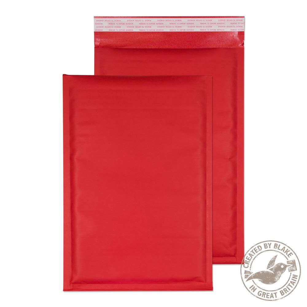 Blake Purely Packaging Red Peel & Seal Padded Bubble 335x230mm 110gsm Pack 100 Code KRD335