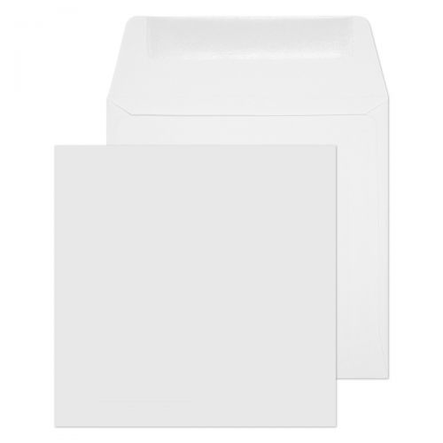 Purely Everyday Square Wallet Gummed White 100gsm 120x120mm Ref 0120SQ [Pack 500] *10 Day Leadtime*