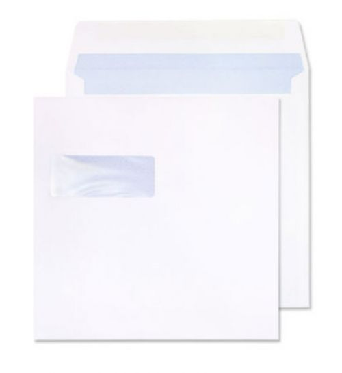 Blake Purely Everyday White Window Gummed Square W allet 165X165mm 100Gm2 Pack 500 Code 0165W 3P