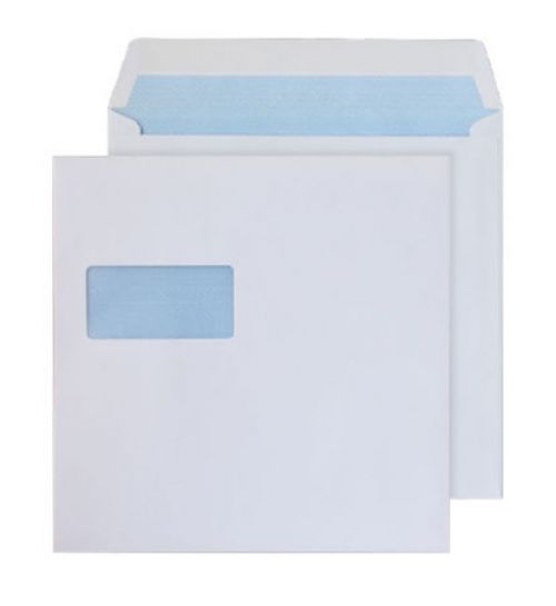 Purely Everyday Square Wallet Gummed Window White 100gsm 170x170 Ref 0170W Pk 500 *10 Day Leadtime*