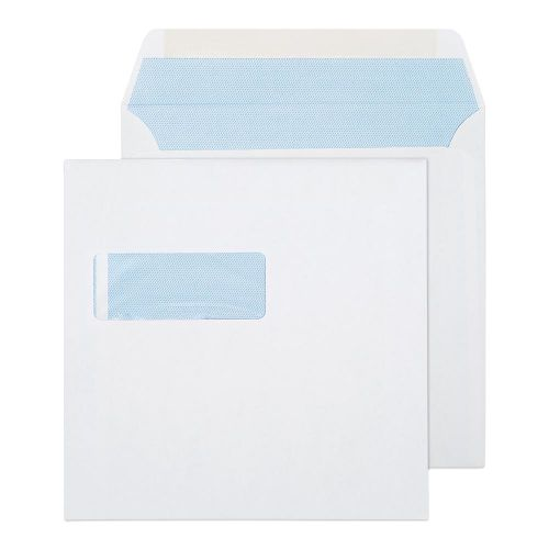 Purely Everyday Square Wallet Gummed Window White 100gsm 190x190 Ref 0190W Pk 500 *10 Day Leadtime*